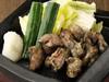 --- 会津地鶏の一枚焼き ---