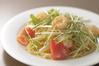 小海老・トマト・水菜のからすみ風味