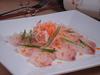 本日の魚と香味野菜のカルパッチョ