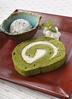 抹茶のロールケーキ&季節のアイス