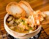 ズワイ蟹と貝柱の雲丹ソース焼
