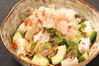 和牛と生湯葉のアボカドの山葵サラダ