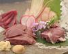 朝引き京赤地鶏刺身盛り合わせ三種