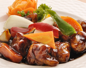 季節野菜の黒酢スブタ