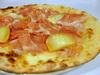 スカモルツァ・アッフミカータチーズとサン・ダニエーレ産プロシュートのピッツァ