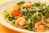 スパゲティ 小海老とルッコラ 塩味