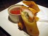 海老、ベーコン、チーズの春巻き