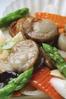 帆立貝とアスパラガスのあっさり塩味炒め