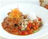 チキンのグリル3種豆ソース&メカジキのグリル野菜ソース