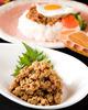 鶏ひき肉のせご飯