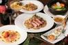 冬野菜、炙りサーモン、松阪豚のグリルコース