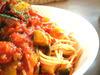 5種野菜のアラビアータ  スパゲティ