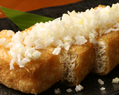栃尾産ジャンボ油揚味噌漬焼