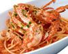ズワイ蟹と渡り蟹のトマトクリームスパゲティー