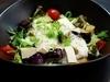 揚げナスと豆富の山かけ胡麻サラダ