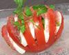 完熟トマトのカプレーゼ仕立て