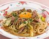 牛肉と野菜のすき焼き風和風パスタ