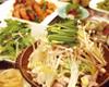 コラーゲン地鶏のスタミナ陶板焼き