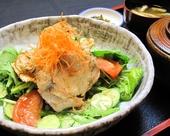 冷しゃぶとたっぷり野菜定食