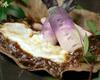 日野菜と秦荘山芋の朴葉味噌焼き
